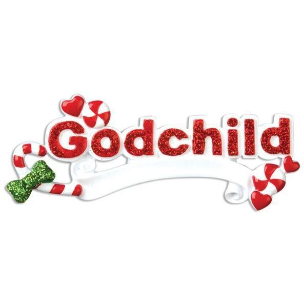 Godchild Personalized Christmas Ornament