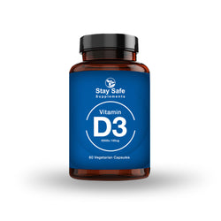 Stay Safe Supplements Vitamin D3 4000 iu 60 Capsules