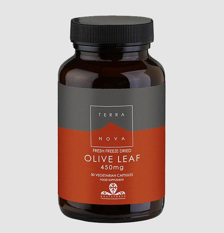 Terranova Freeze Dried Olive Leaf 450mg 50 Capsules