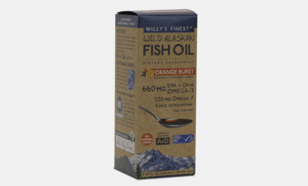 Wiley's Finest Liquid Orange Burst Liquid Fish oil 12 Servings