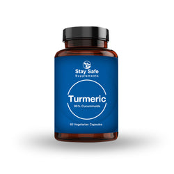 Stay Safe Supplements Turmeric 550mg (95% curcuminoids) 60 Capsules