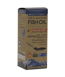 Wiley's Finest Liquid Orang Burst Fish Oil 50 Servings