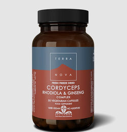 Terranova Cordyceps, Ginseng and Rhodiola Complex 50 Caps