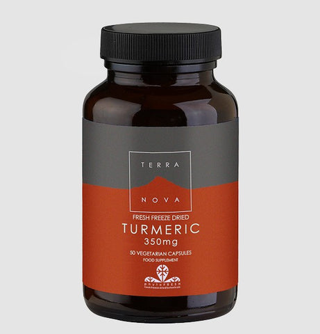 Terranova Freeze Dried Turmeric 350mg 100 Capsules