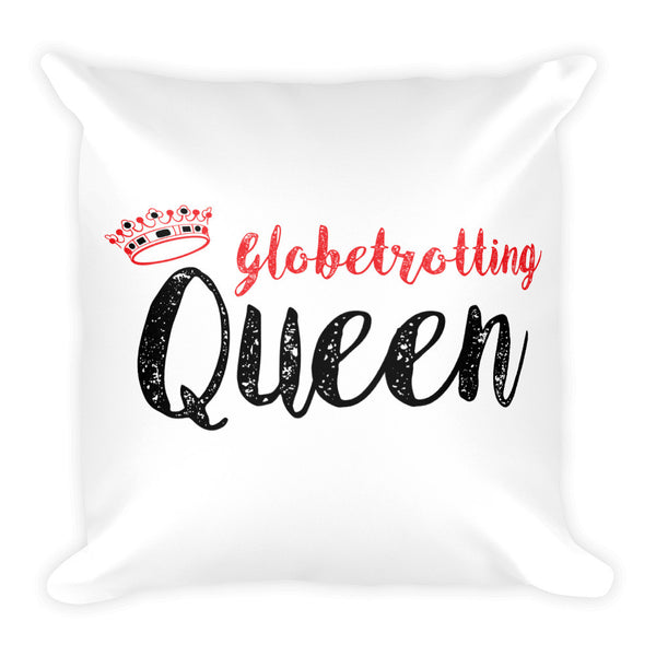 Globetrotting Queen Square Pillow