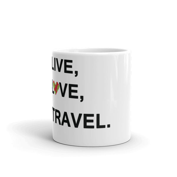 Live, Love, Travel Mug