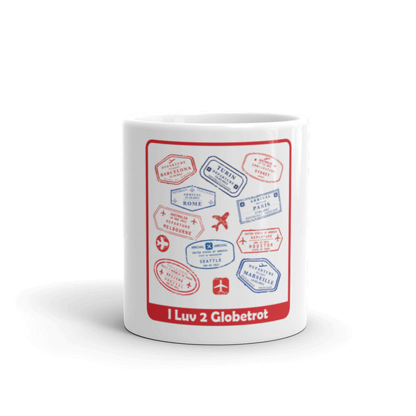 Passport Stamps Mug