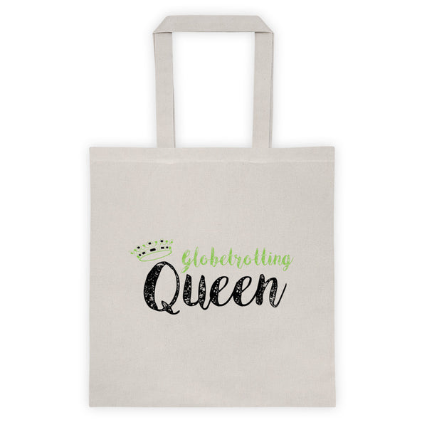 White Globetrotting Queen Tote bag