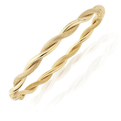 9ct. Gold Contemporary Twisted Bangle