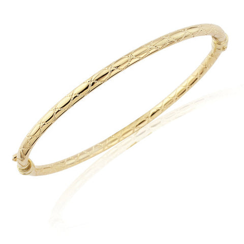 "9ct. Gold ""Kiss"" Motif Bangle"
