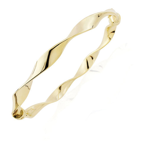 9ct. Gold Twisted Bangle