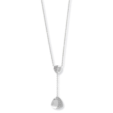 "9ct. White Gold Diamond Necklet 17""/42.5cm"