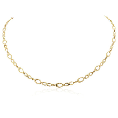 "9ct. Fancy Link Necklet 17""/43cm"