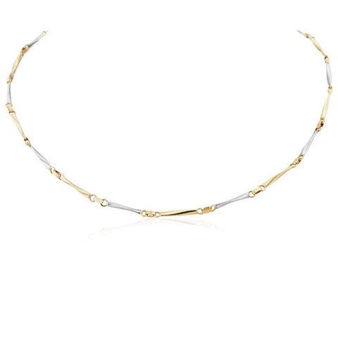"9ct. White and Yellow Gold Necklace 17""/43cm"