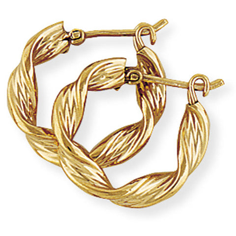 9ct. Twisted Hoop Earring