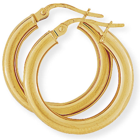 9ct. Classic Hoop Earrings