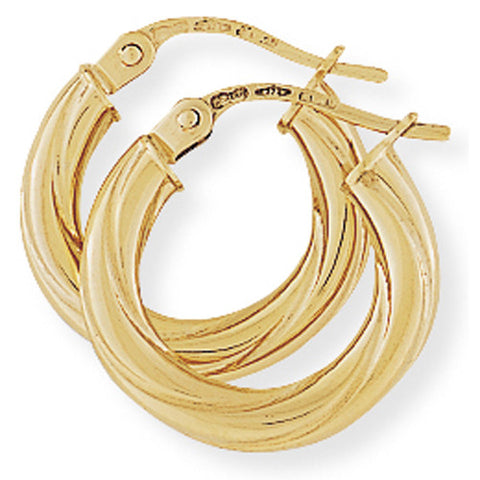 9ct. Twisted Hoop Earrings