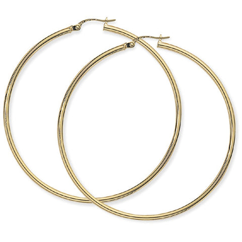 9ct. Plain hoop earrings