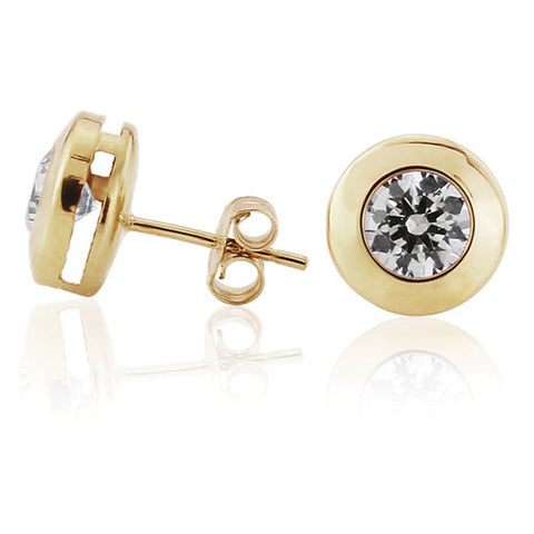 9ct. Cubic Zirconia Stud Earrings