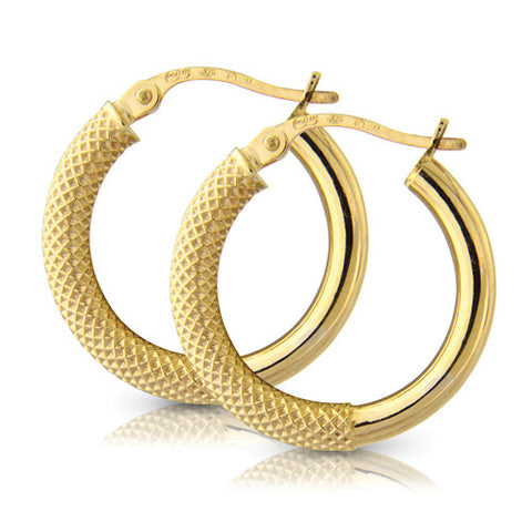 9ct. Filigree Hoop Earrings
