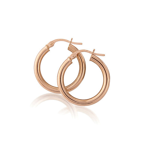 9ct. Rose Gold Hoop Earrings