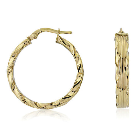 9ct. Fancy Hoop Earrings