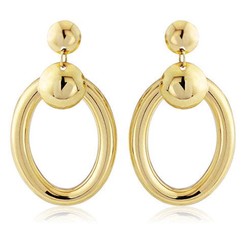 9ct. Yellow Gold Drop Earrings