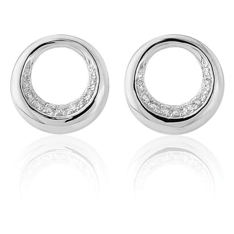 9ct. Diamond studs