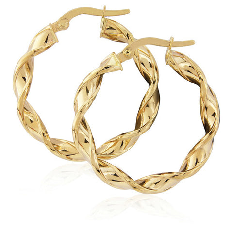 9ct. Twist Hoops
