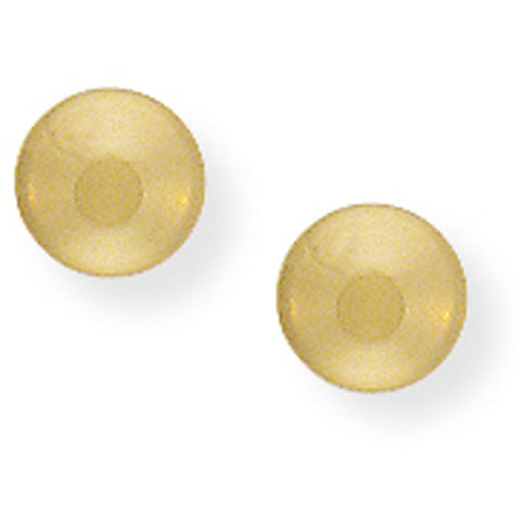9ct. 5mm Button Stud Earrings