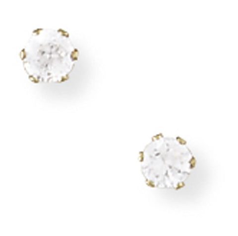 9ct. Claw-set 3mm Cubic Zirconia Stud Earrings