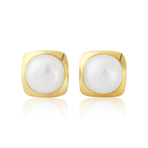 9ct. Freshwater Pearl Earrings