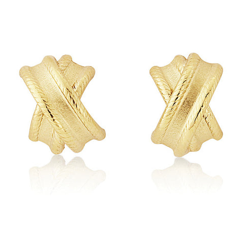 9ct. Fancy Kiss Stud Earrings