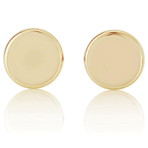 9ct. Round Button Stud Earrings