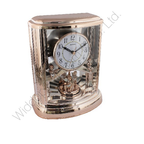 Rhythm Rose Coloured Mantle Clock 4RH741WS13