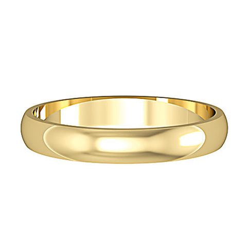 9ct. Yellow Gold Court Light 3mm Wedding Ring