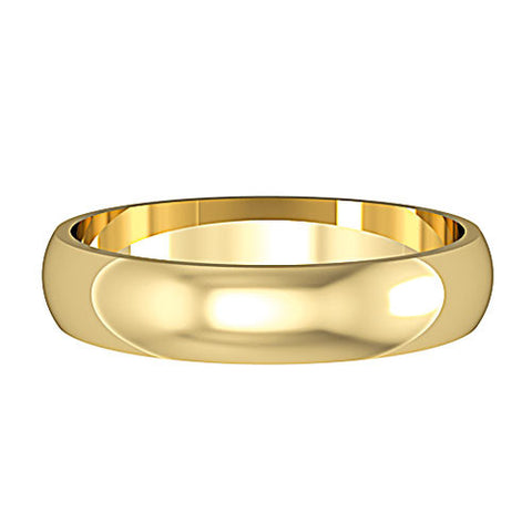 9ct. Yellow Gold D-Shaped 4mm Wedding Ring
