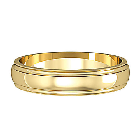 9ct. Yellow Gold 4mm Wedding Ring