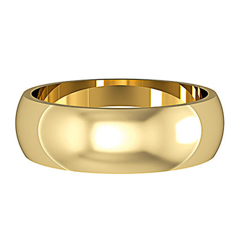 9ct. Yellow Gold 6mm Wedding Ring