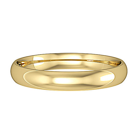 9ct Yellow Gold 3mm Court Light Wedding Ring