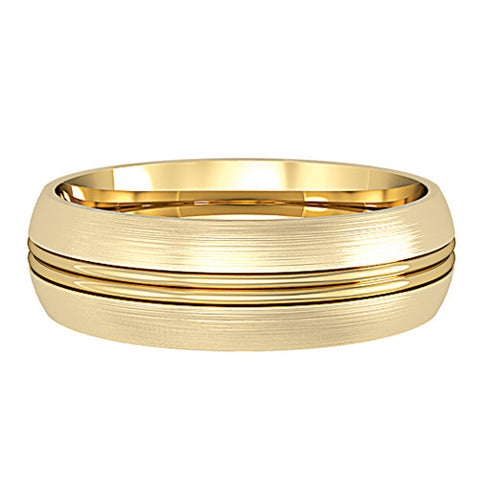 18ct. Yellow Gold Patterned 6mm Wedding Ring