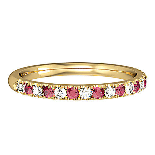 18ct. Yellow Gold Diamond and Ruby Ring