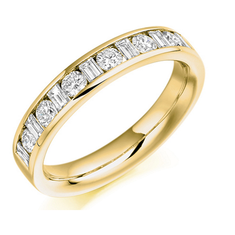 18ct Yellow Gold Half Eternity HET 909