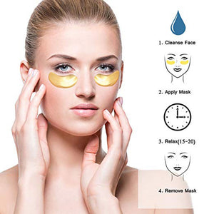 Crystal Collagen Gold Powder Eye Mask 10PCS