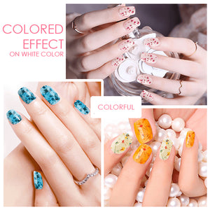 Dried Flower Nail Gel