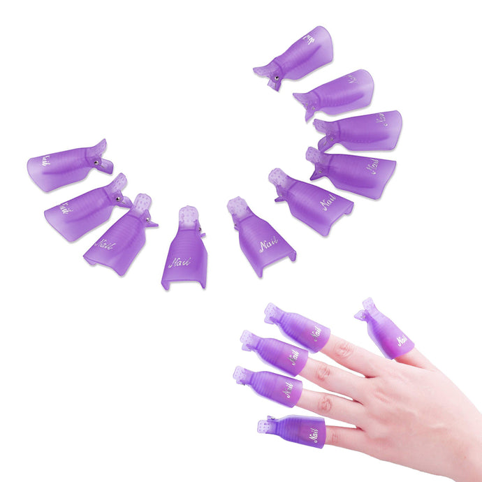 Gel Nail Polish Removal Clips 10PCS