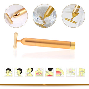 Gold Vibration Facial Massager