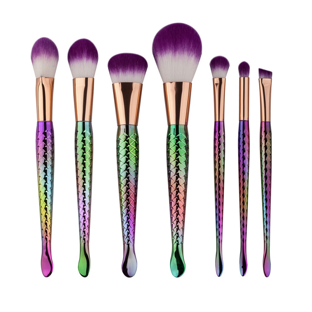 Mermaid Makeup Brush Set 7PCS