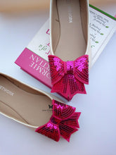 sequin bow - Raw Strawberry