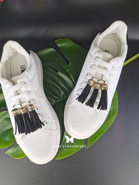 black sneaker tassels (6 pieces) - Raw Strawberry